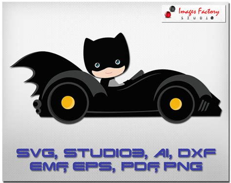 batman car clipart batmobile cuttable cricut design space silhouette digital