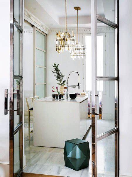 lamparas de laton dorado piso senorial en madrid nuevo