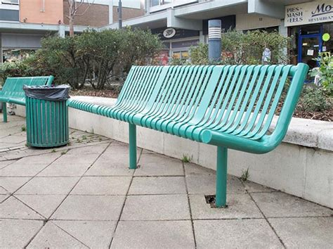 bench seat melbourne melbourne seat and bench modern steel public seating