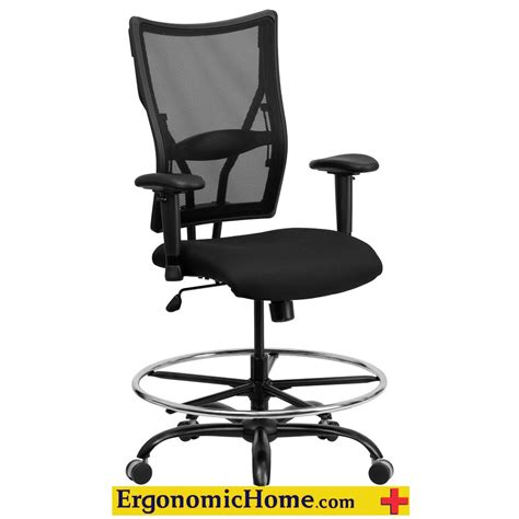 ergonomic home ergonomic home black mesh drafting chair