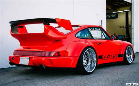 porsche rwb supreme mega rwb porsche 911 964 turbo auf ccw wheels by eas