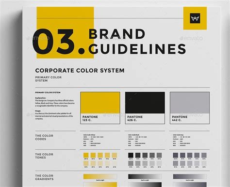 Brand Manual Template 3 Colors By Egotype Graphicriver Brand Manual Template Free
