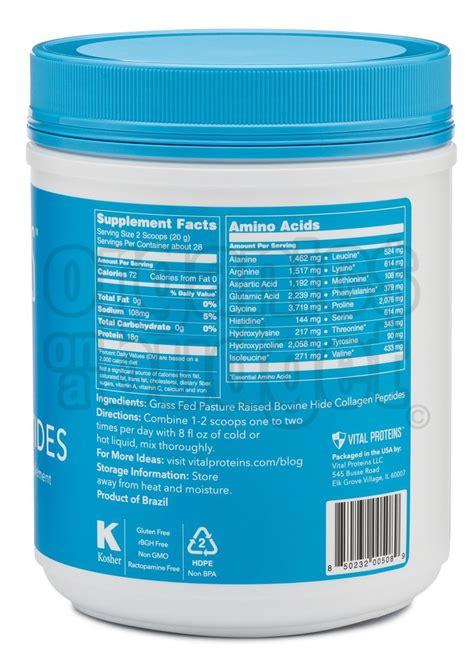 vital proteins collagen vital proteins collagen peptide pasture raised 567g
