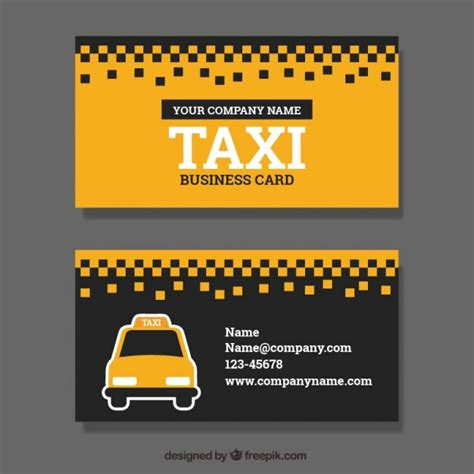 Taxi Driver Business Card Template Free by Taxi Service Business Card Vector Free