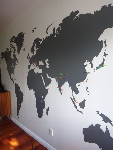 Large World Map Wall Stickers best 25 world map wall ideas on world map