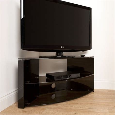 43 quot corner three shelf tv stand in black b3b
