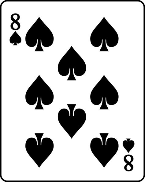Card Spade Template by File Card Spade 8 Svg Wikimedia Commons