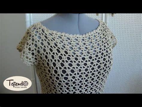 blusa tejida a crochet para verano parte 1 de 2 verano croch 233 and tutoriales on pinterest