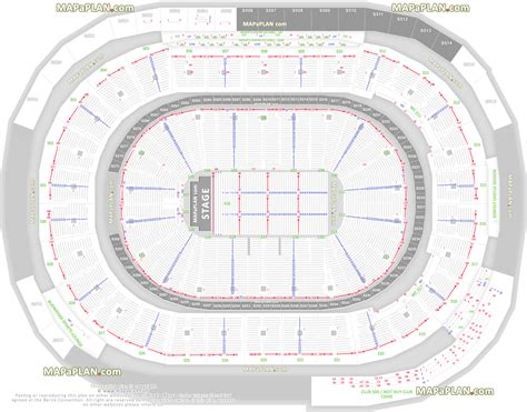 number of sections in an ice hockey rink detailed seat row numbers end stage full concert sections
