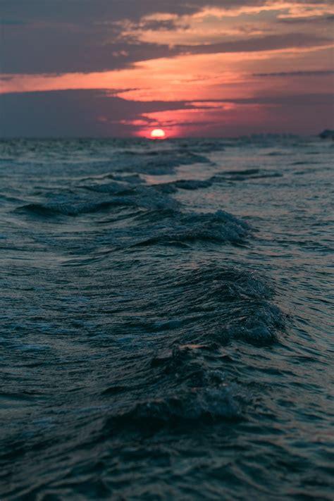 sunset ocean beach iphone wallpaper idrop news