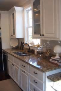 Granite Kitchen Cabinets Santa Cecilia Granite Traditional Kitchen