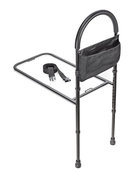 adirmed height adjustable bed rail bed assist handle with storage pouch livelyseniors