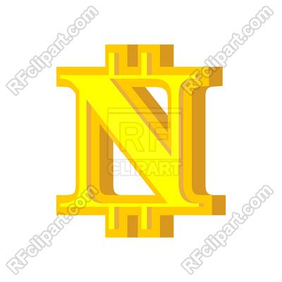 N letter bitcoin font Royalty Free Vector Clip Art Image ... B