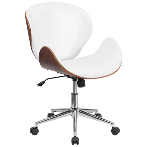 innovative white modern office chair and beautiful desk