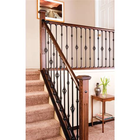 interior railings home depot stair simple axxys 8 ft stair rail kit stair railing