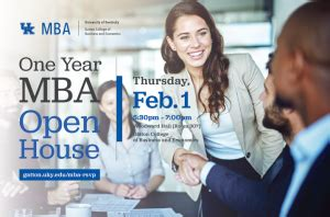 Kentucky One Year Mba by Gatton College To Host One Year Mba Open House Feb 1