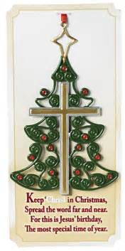 keep jesus in christmas christian ornaments christian