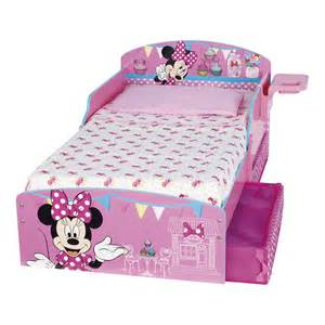 minnie maus bett disney minnie mouse toddler bed underbed storage and shelf
