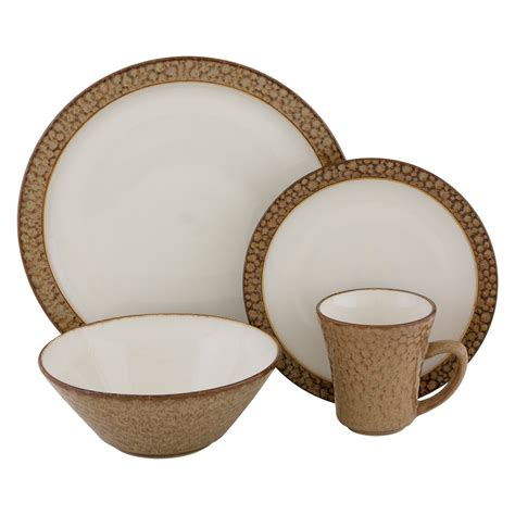 sango facets dinnerware gold set of 16 at hayneedle