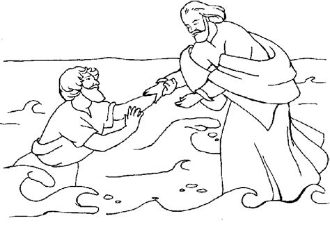 coloring pages for jesus walking on water jesus walks on water coloring pages