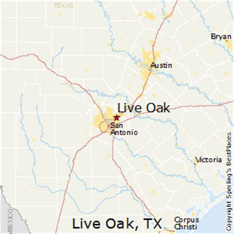 oak texas map best places to live in live oak texas