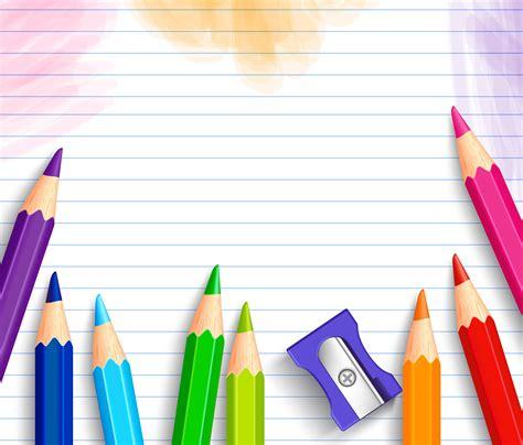 school background  pencils marcos  texto fondos