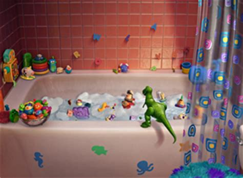 toy story bathtub party watch the pixar toy story short partysaurus rex movies