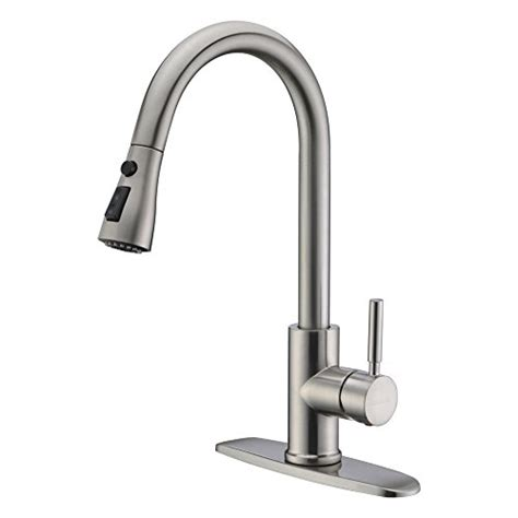 high arc kitchen nickel faucets price compare