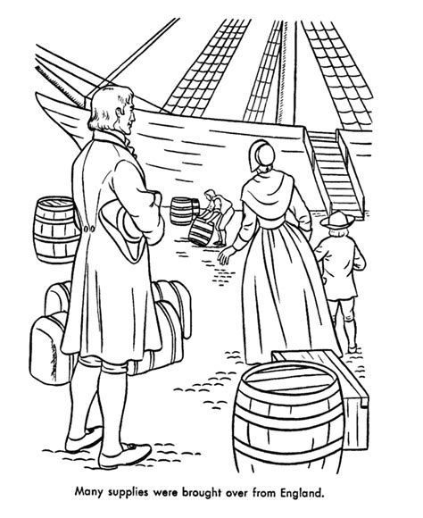 colonial life coloring pages coloring home