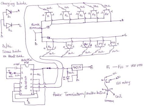 automatic ups system wiring circuit diagram homeoffice