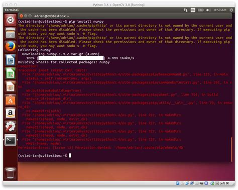 how to install pip ubuntu how to install numpy on ubuntu newhairstylesformen2014 com