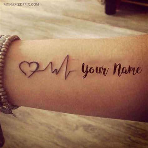 Love Tattoo Editor | best 25 heartbeat tattoo with name ideas on pinterest