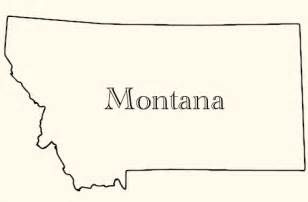 Montana Map Outline by Locations Border Crossing Firm