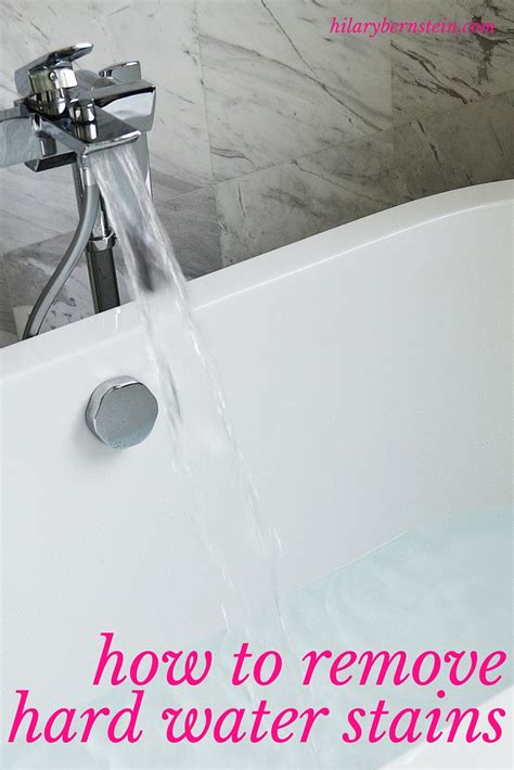 Cleaning Stained Bathtub How To Remove Hard Water Stains No Place Like Home