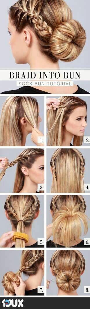 easy sock bun for hair 20 easy hairstyle tutorials for your everyday look