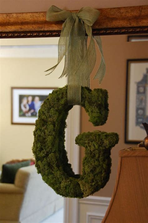 25 best ideas about moss covered letters on