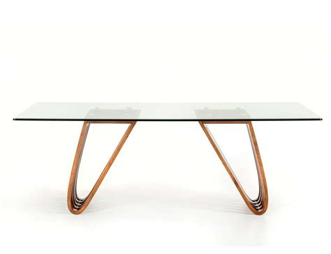 Glass And Walnut Dining Table Walnut And Glass Dining Table Vg 498 Modern Dining