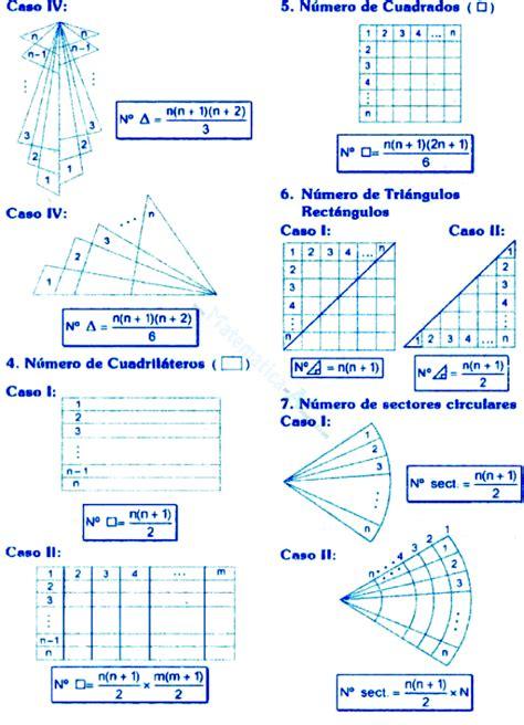 Conteo De Figuras Matematicas Ejercicios Resueltos | conteo de figuras conceptos y ejercicios desarrollados