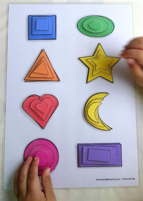 printable sorting shapes printable shape matching and size sorting activity fine