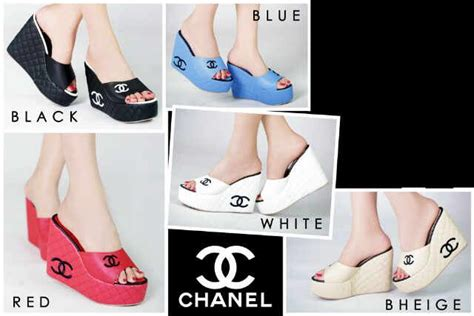 Sandal Wanita Jepit Wedges Channel Murah pin by sepatu wanita on sepatu flat heel wedges sandal wedges heel fl