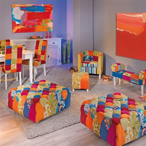 Banc Patchwork by Banc Patchwork Quot Aquarelle Quot Multicolore