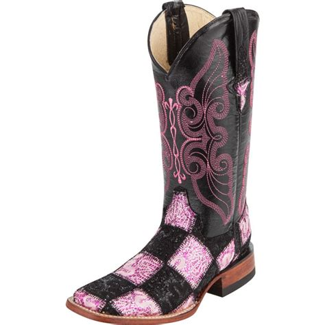 Patchwork Boots Womens - shop s ferrini black and pink patchwork boots