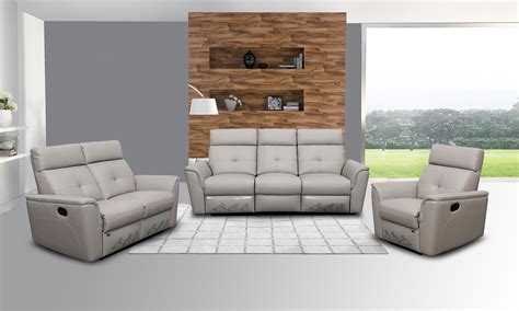 gray reclining sofa and loveseat gray leather reclining sofa and loveseat trevino smoke