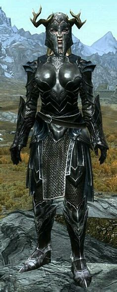 skyrim ebony gauntlet quot knight from the depths quot by skane ebony mail daedric