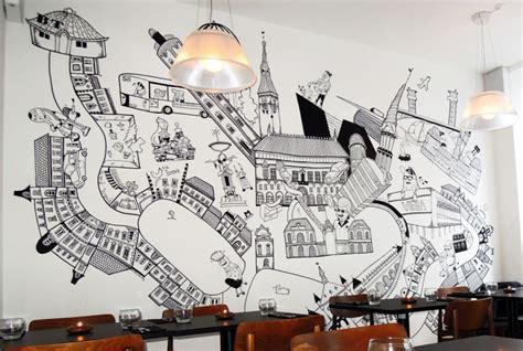 wohnzimmer stehle wandbemalung ideen und inspirationen 44 kreative designs