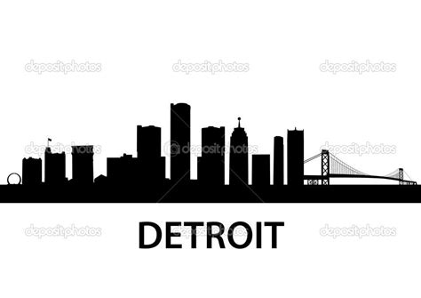 detroit skyline tattoo detroit skyline silhouette search ideas