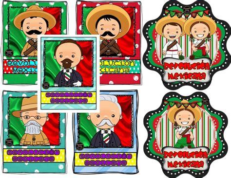imagenes sobre la revolucion mexicana para niños lindos dise 241 os de personajes y distintivos de la