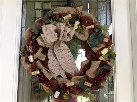 burlap wine theme wreath wreaths and floral wreaths burlap and wine cork wreath