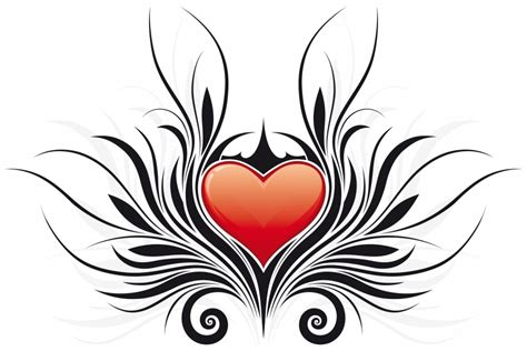 tribal heart with wings tattoo gudu ngiseng