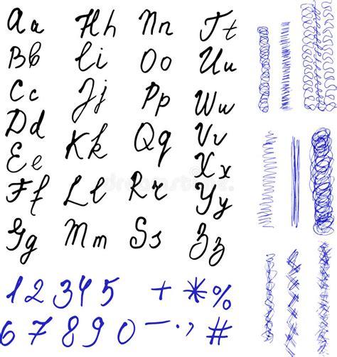 lettere alfabeto disegnate alfabeto lettere disegnate a mano lettere nere e